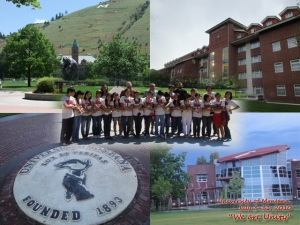 at University of Montana,  last day in Montana